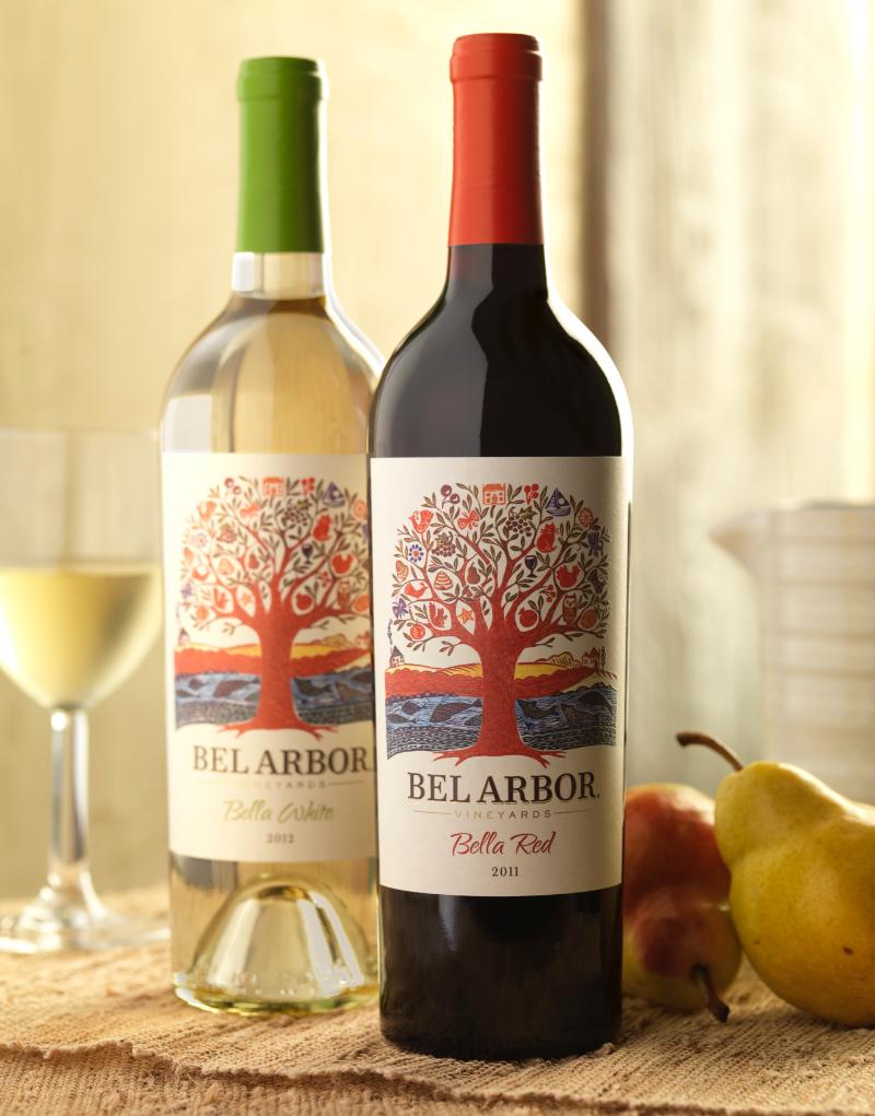 Bel Arbor Wine Packaging Design & Logo