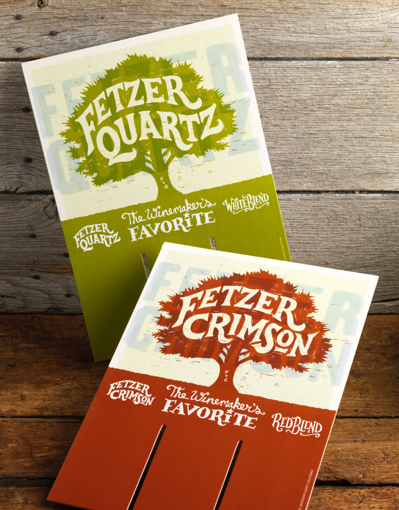 Fetzer Crimson & Quartz Case Cards Design