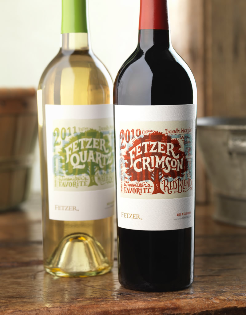 Fetzer Crimson & Quartz Wine Packaging Design & Logo