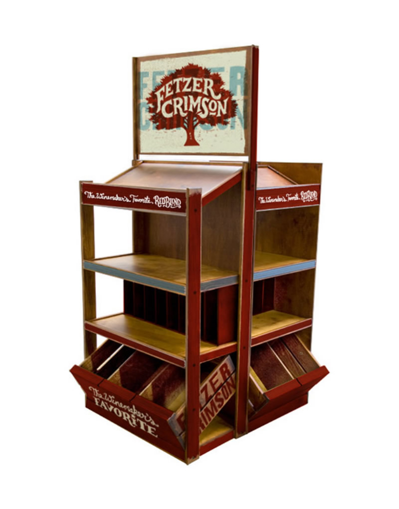 Fetzer Crimson Wood Wine Rack Display Design