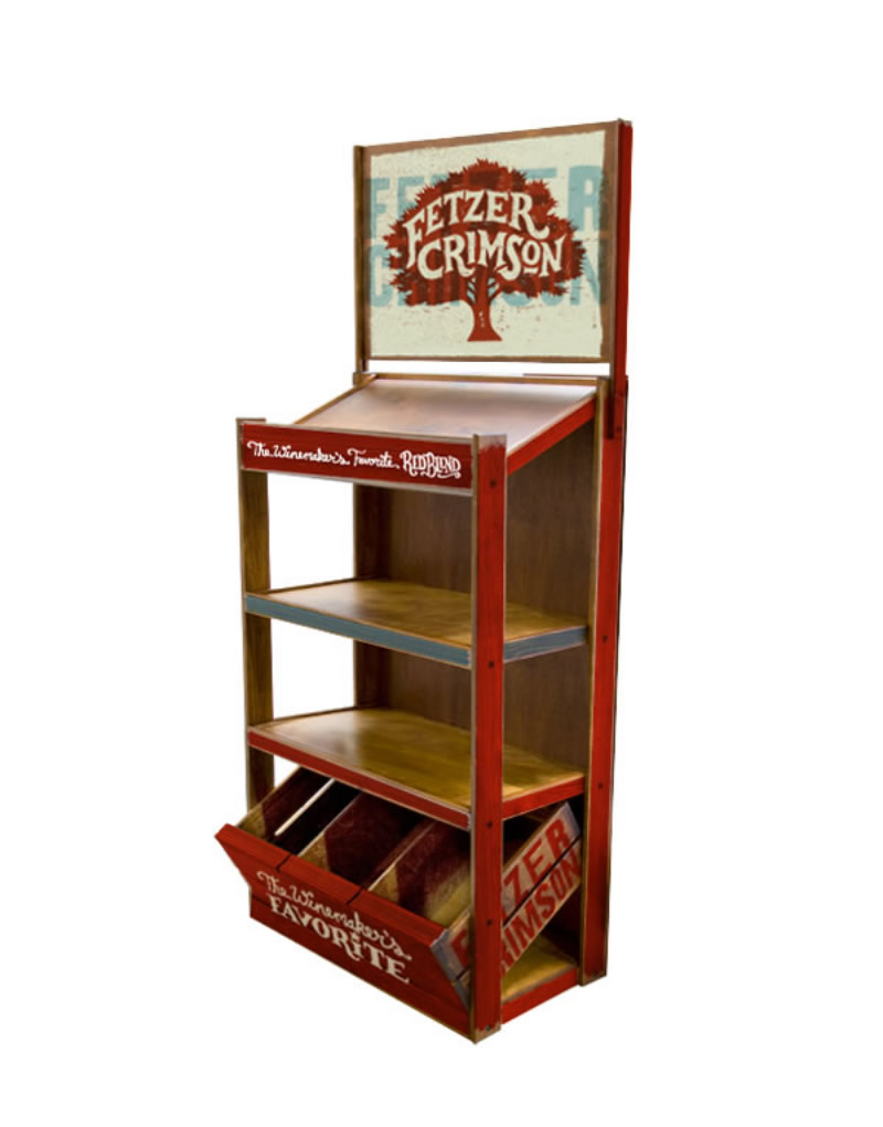 Fetzer Crimson Wood Wine Half Rack Display Design