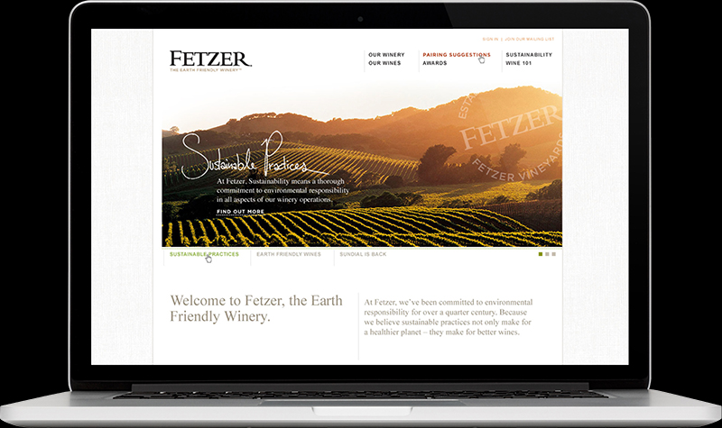 Fetzer Vineyards Homepage Website Design