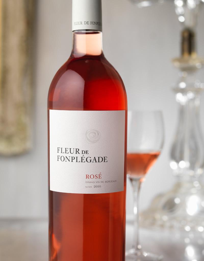 Fleur De Fonplégade Wine Packaging Design & Logo Rosé Wine