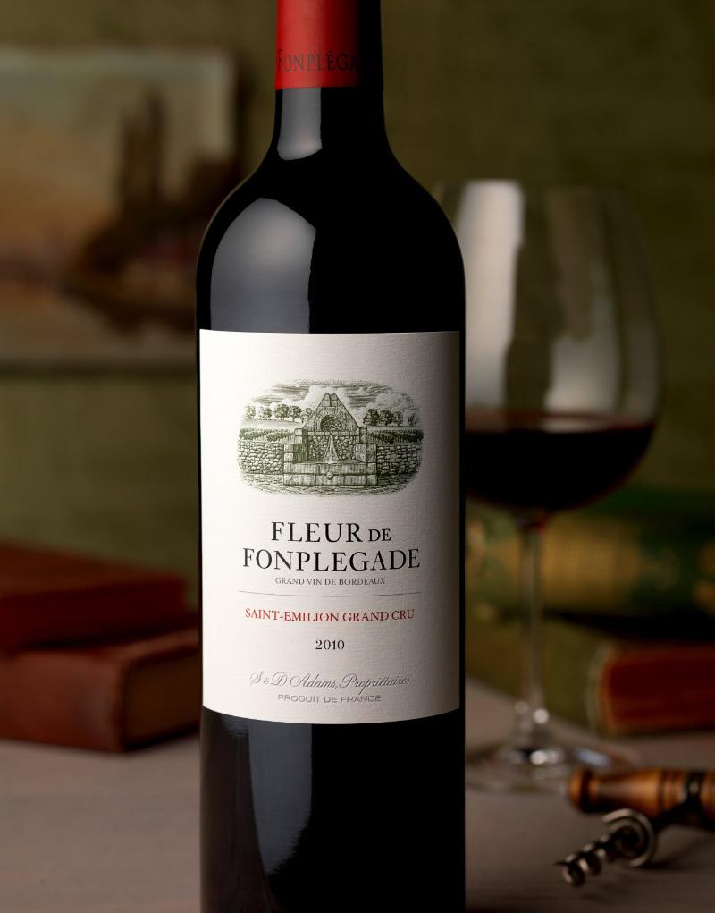 Fleur de Fonplégade Wine Packaging Design & Logo