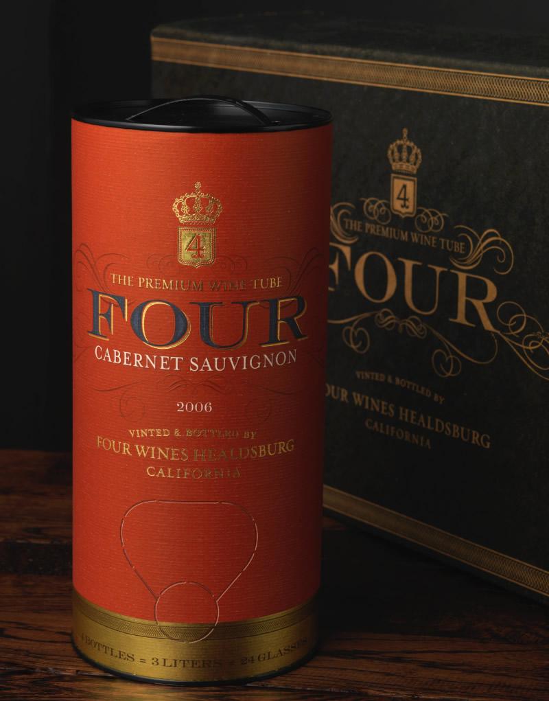 Four Wine-in-Tube Packaging Design & Logo