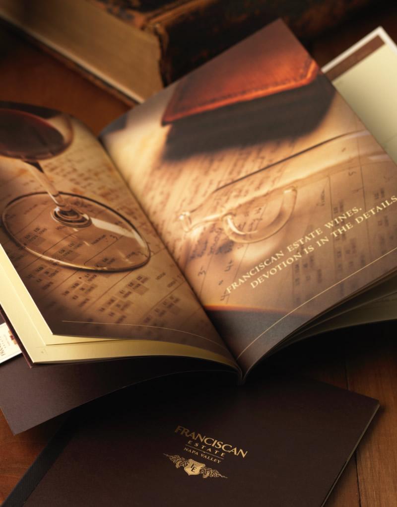 Franciscan Estate Brochure Inside Spread Design