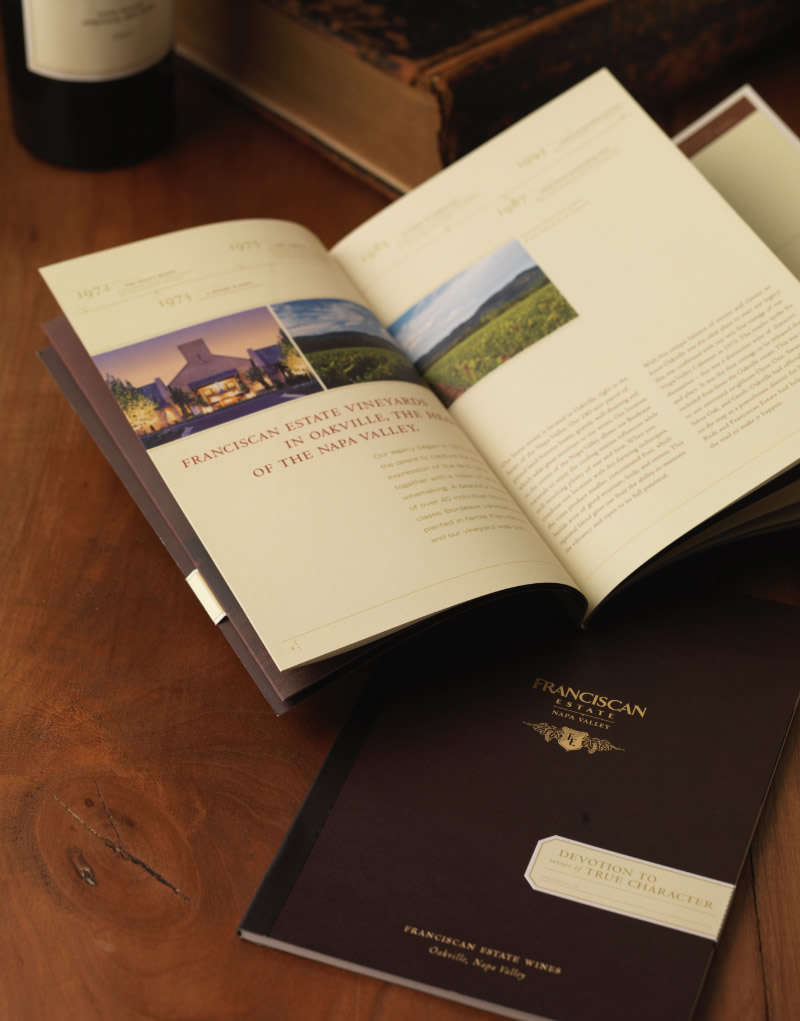 Franciscan Estate Brochure Inside Spread Design