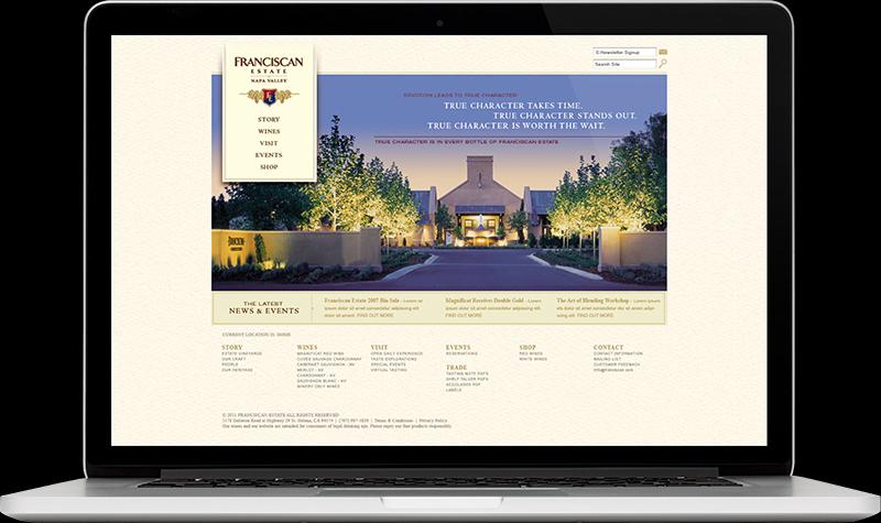 Franciscan Estate Homepage Website Design