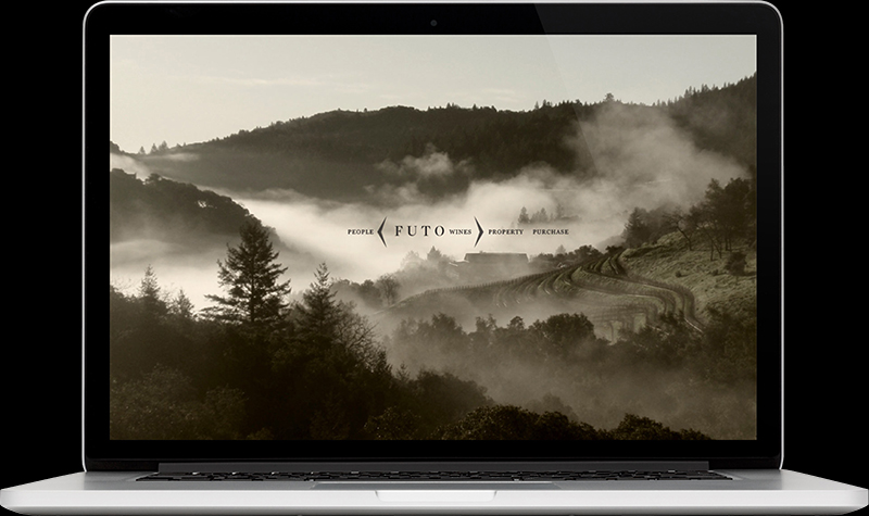 Futo Wines Homepage Website Design