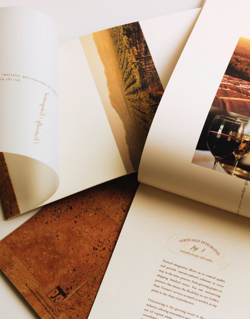 Golden State Vintners Brochure Design
