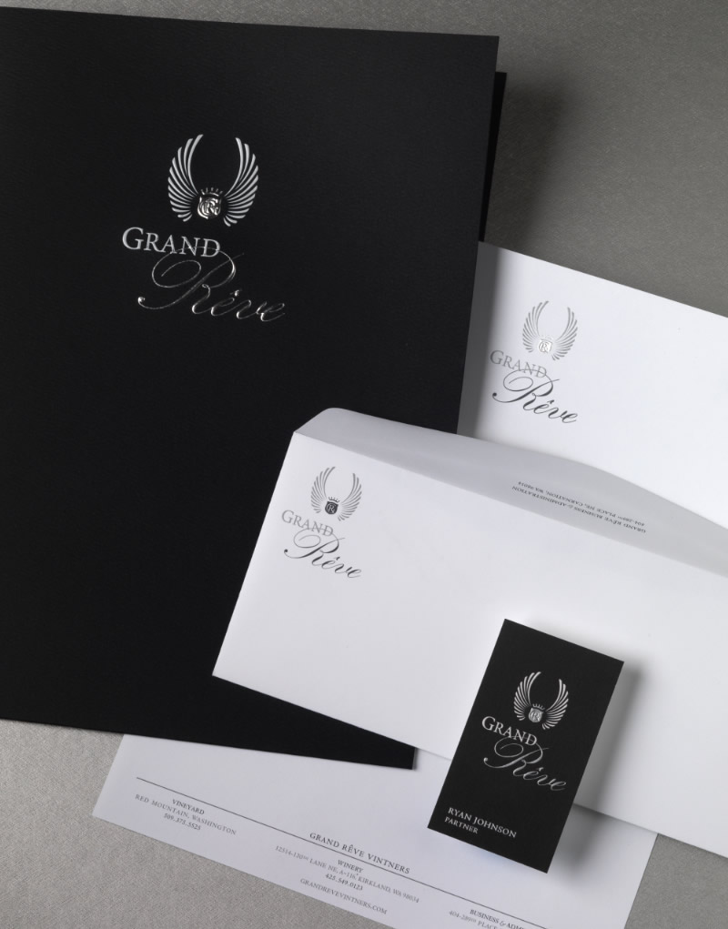 Grand Rêve Vintners Stationery Design