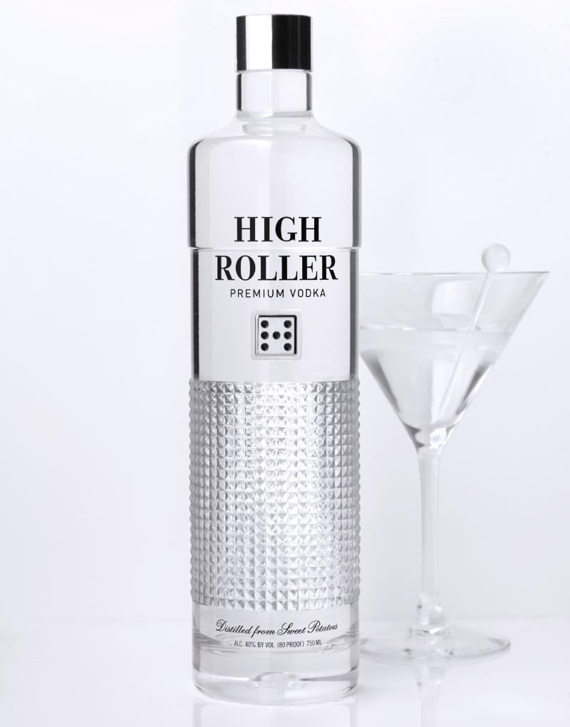 High Roller Vodka Packaging Design & Logo
