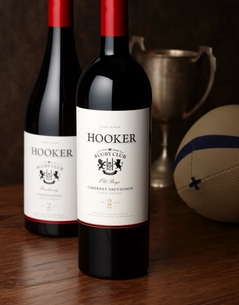 Hooker Wine Packaging Design & Logo