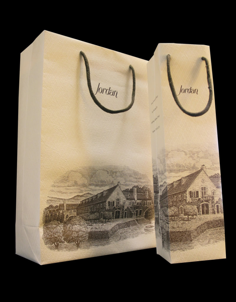 Jordan Winery Gift Bag Design