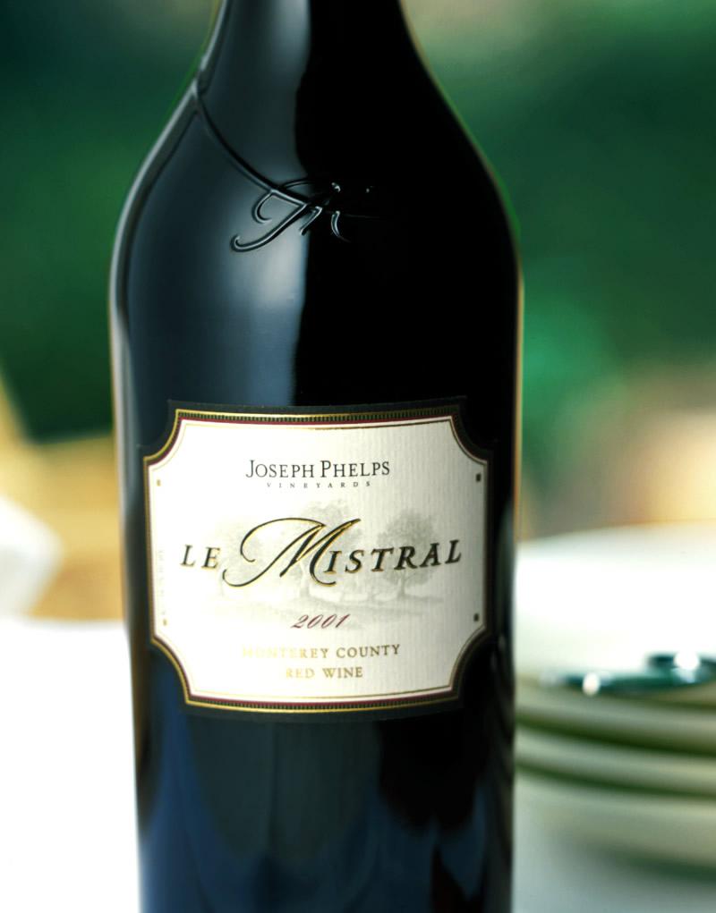 Joseph Phelps Mistral Wine Packaging Design & Logo