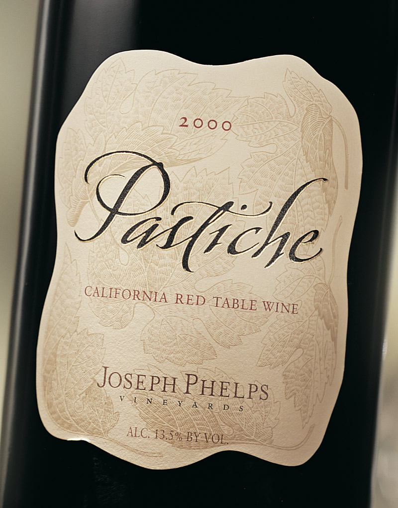 Joseph Phelps Pastiche Wine Packaging Design & Logo