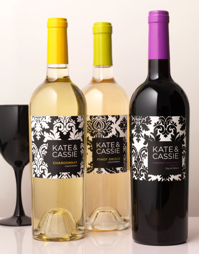 Kate & Cassie Wine Packaging Design & Logo