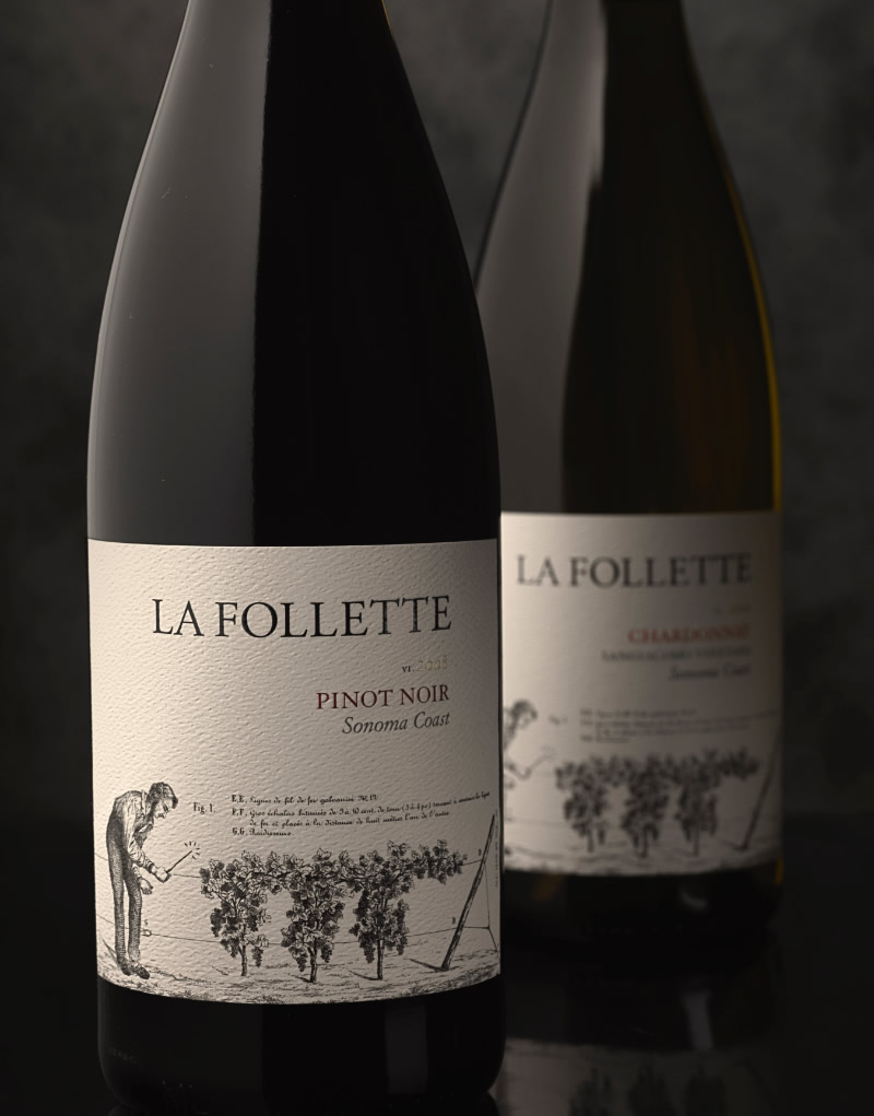 La Follette Wine Packaging Design & Logo