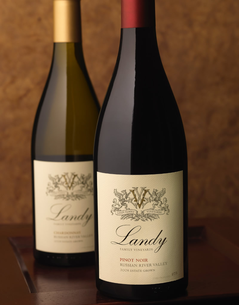Landy Family Vineyards Wine Packaging Design & Logo
