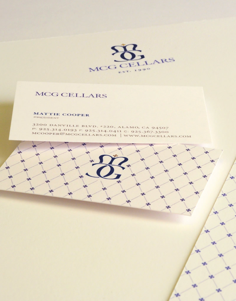 MCG Cellars Stationery Design