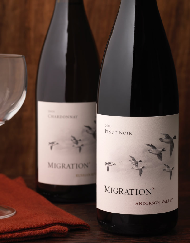 Migration Wine Packaging Design & Logo