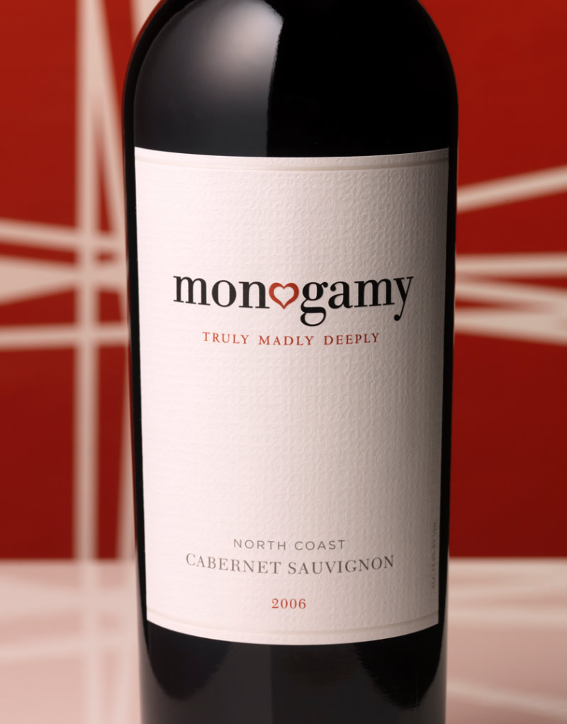 Monogamy Wine Packaging Design & Logo