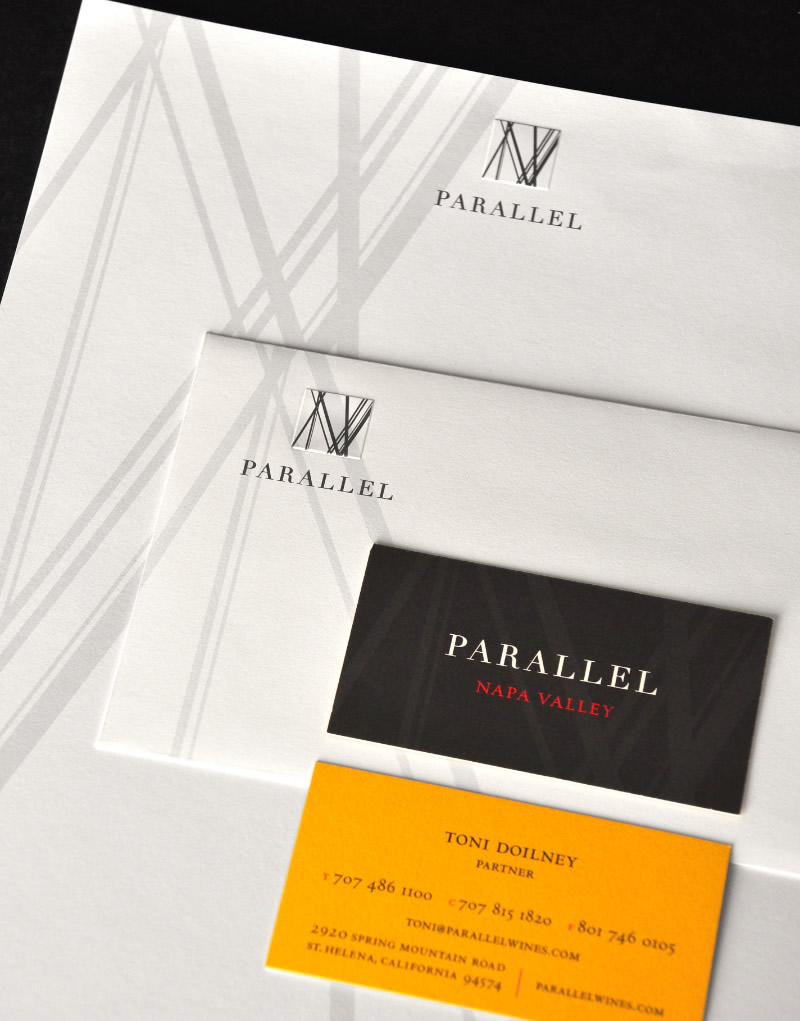 Parallel Napa Valley Stationery Design