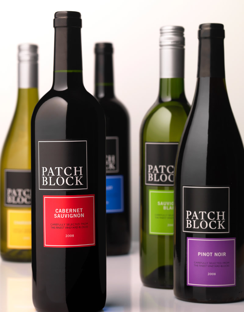 Patch Block Wine Packaging Design & Logo
