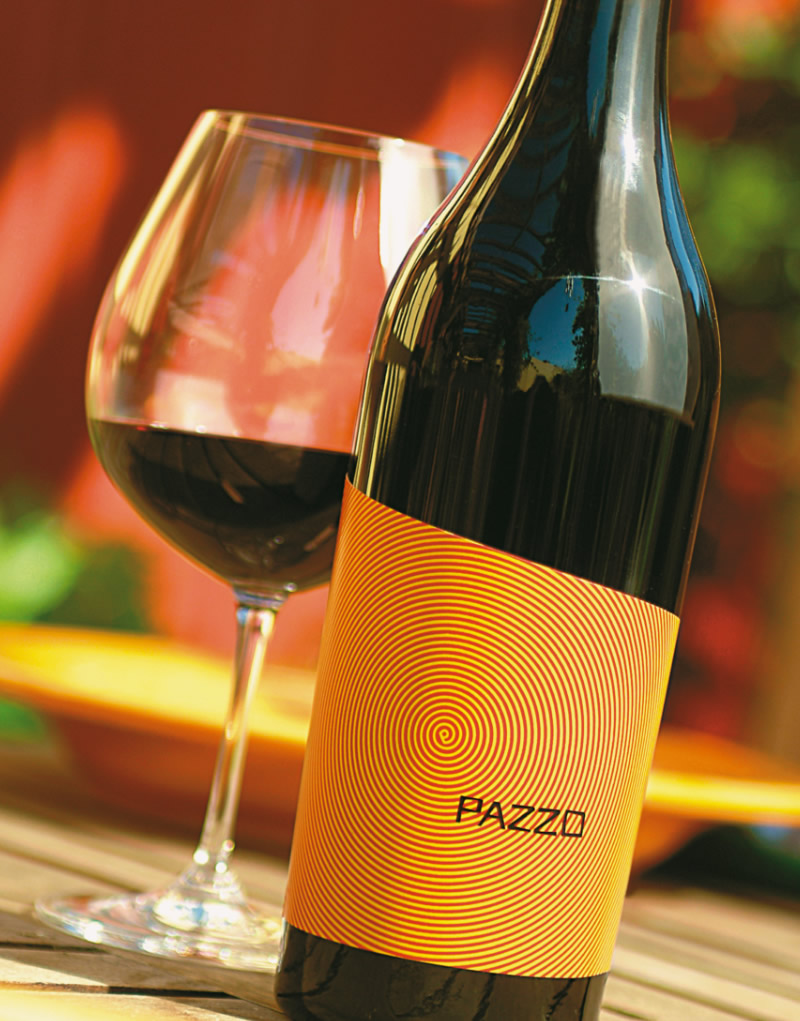 Pazzo Wine Packaging Design & Logo