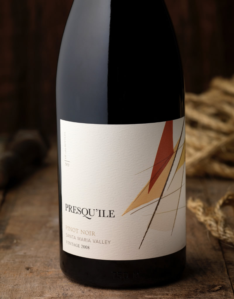 Presqu'ile Wine Packaging Design & Logo