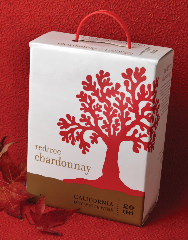 Redtree Wine Packaging Design & Logo Bag-in-Box