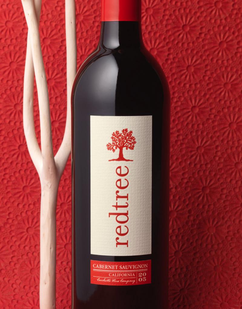Redtree Wine Packaging Design & Logo