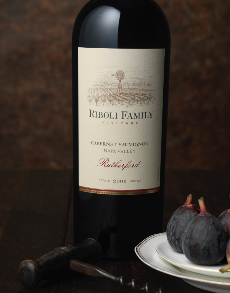 Riboli Family Vineyard Wine Packaging Design & Logo