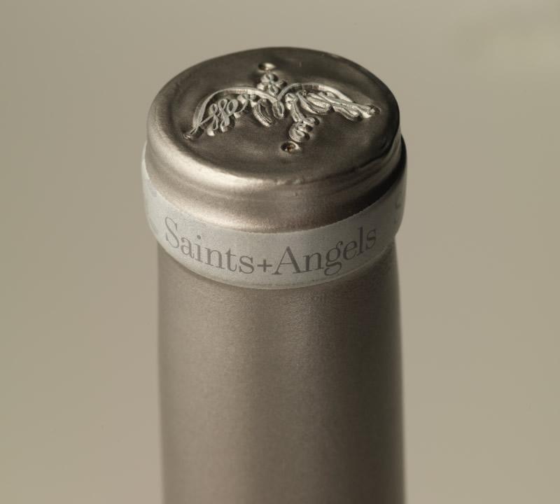 Saints + Angels Wine Packaging Design & Logo Capsule Detail