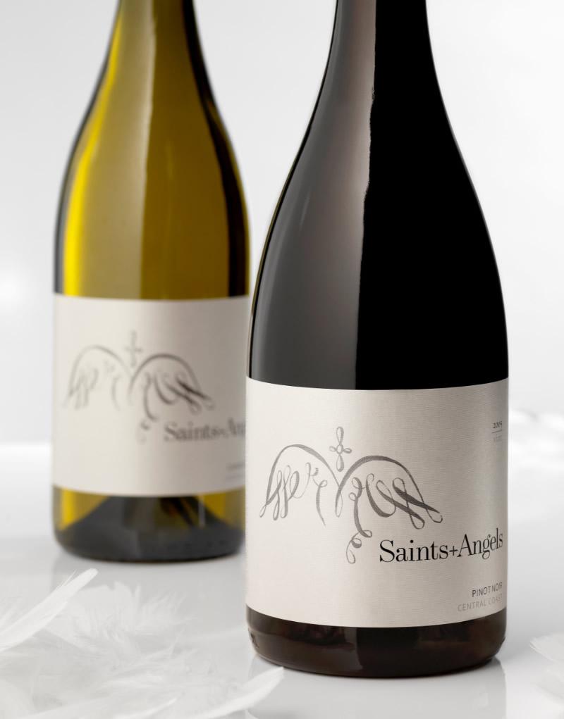 Saints + Angels Wine Packaging Design & Logo