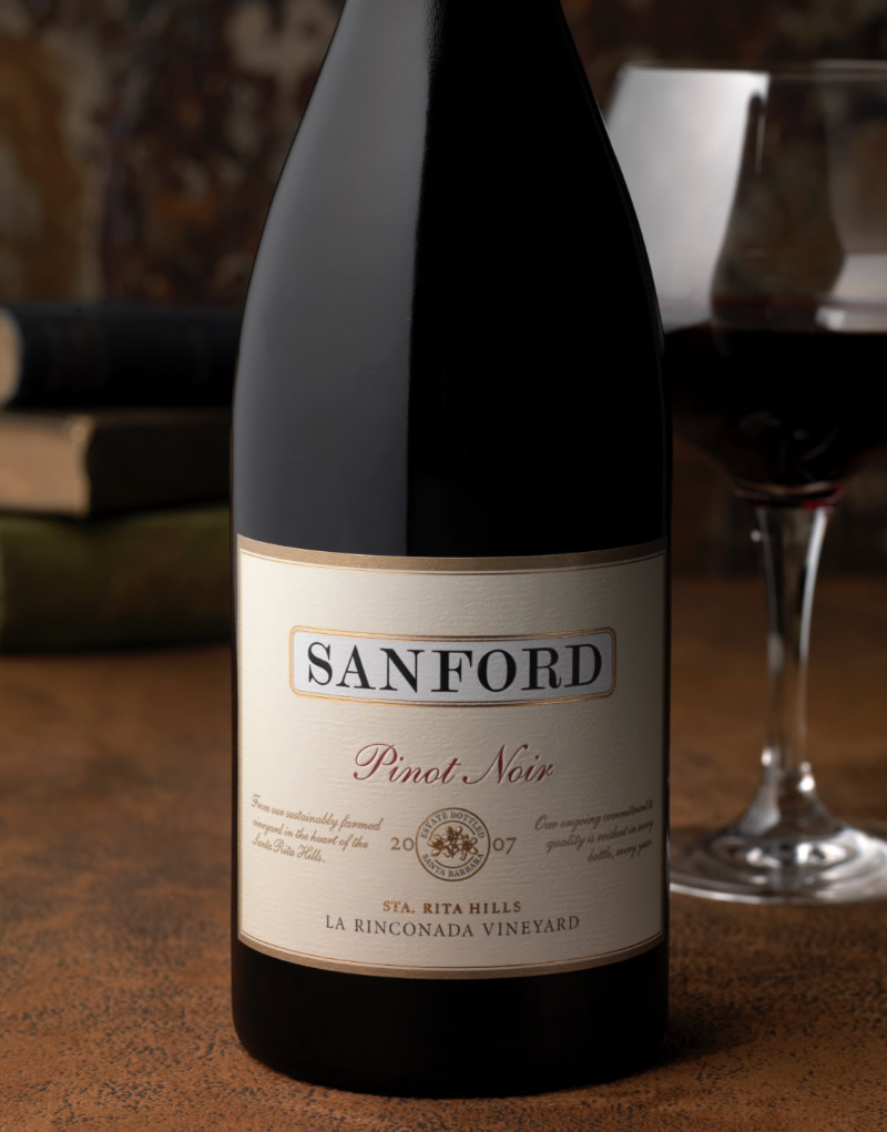 Sanford Wine Packaging Design & Logo Vineyard Designate