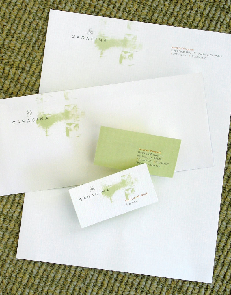 Saracina Vineyards Stationery Design