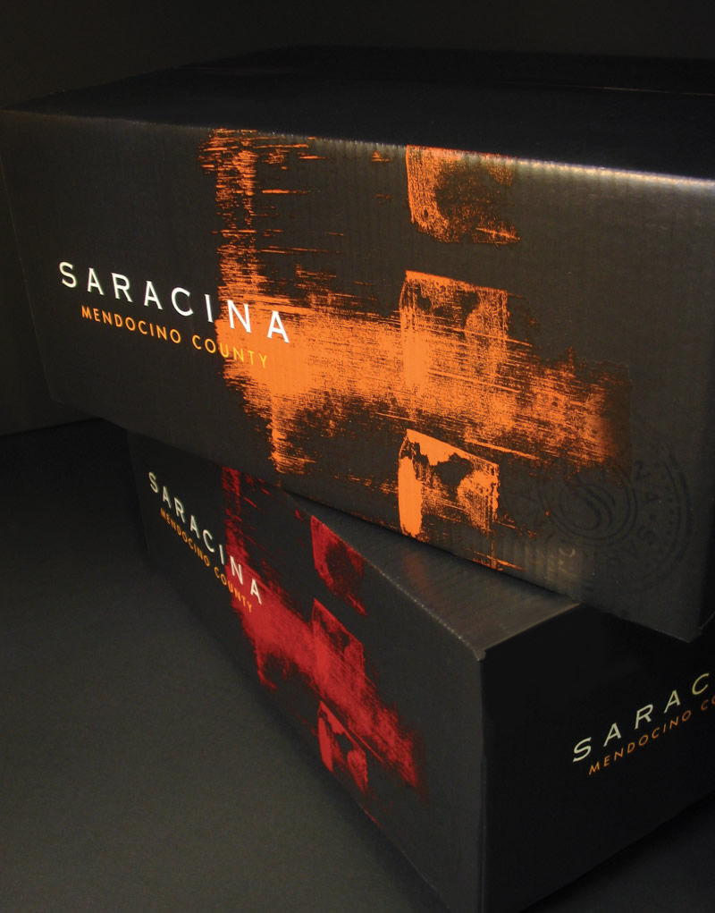 Saracina Vineyards Shipper Design