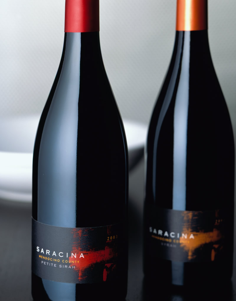 Saracina Vineyards Wine Packaging Design & Logo Red Wines
