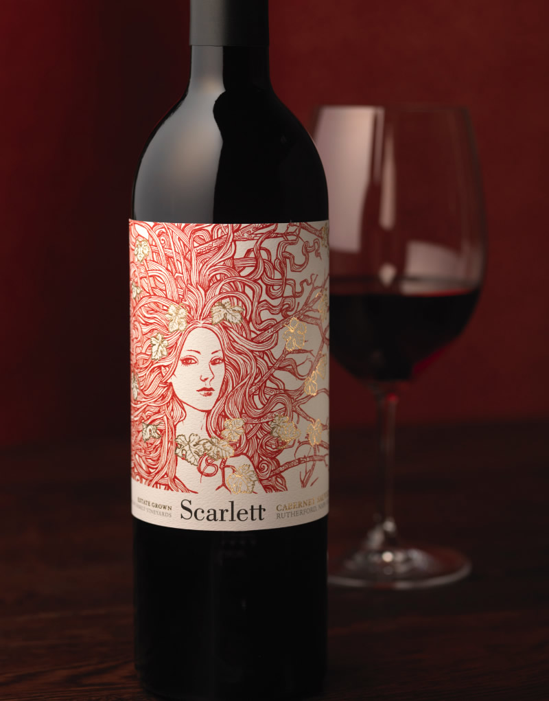 Scarlett Wine Packaging Design & Logo