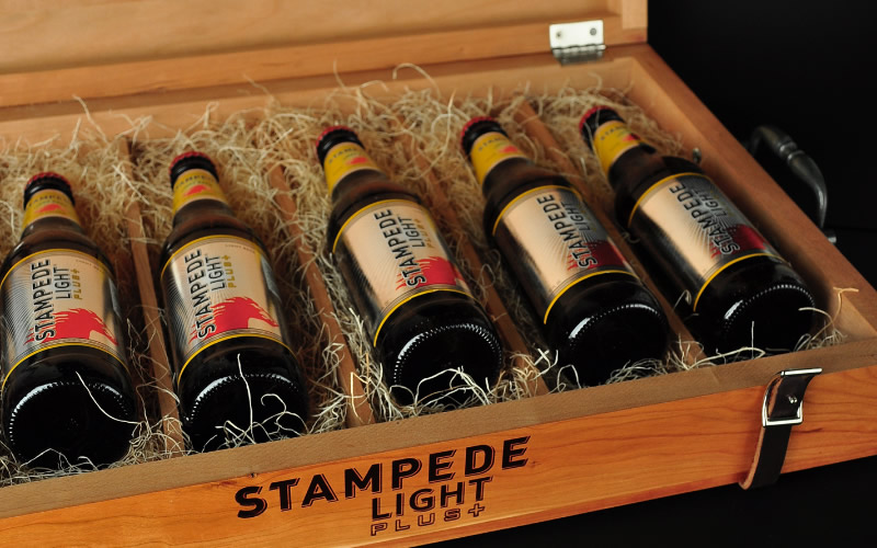 Stampede Beer Gift Box Design