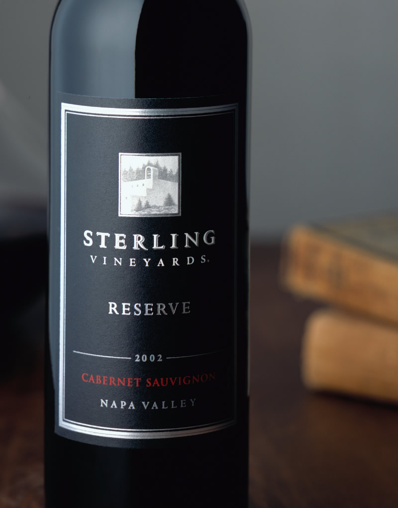 Sterling Vineyards Wine Packaging Design & Logo Reserve Wine
