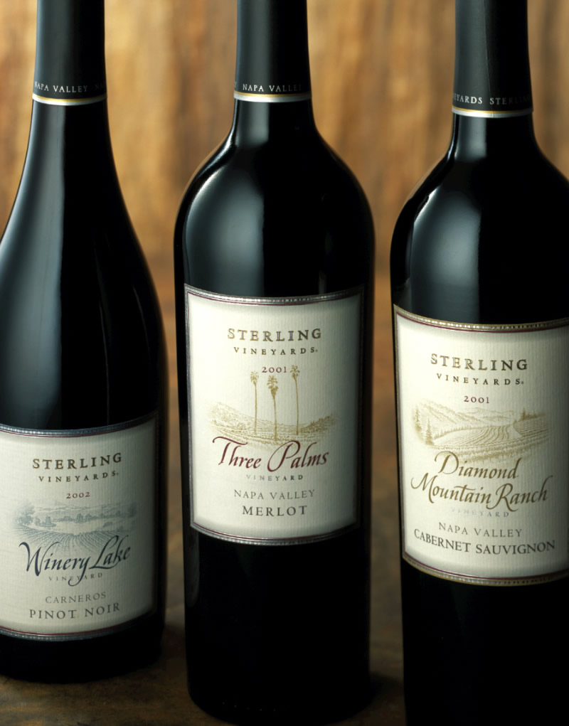 Sterling Vineyards Wine Packaging Design & Logo Vineyard Designate