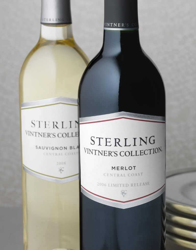 Sterling Vineyards Wine Packaging Design & Logo Vintners Collection