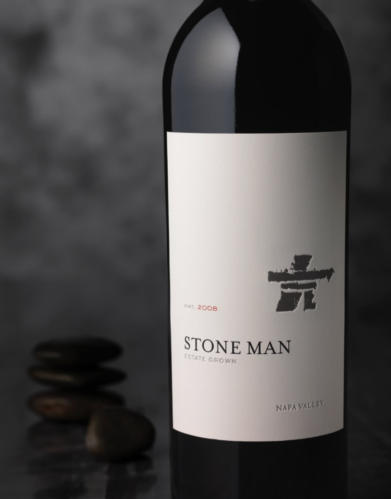 Stone Man Wine Packaging Design & Logo