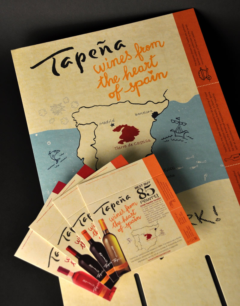 Tapeña Regional 2010 Case Card and Shelf Talker Design