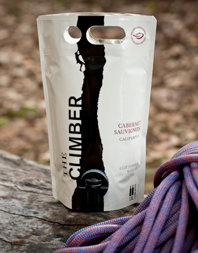 The Climber Wine Packaging Design & Logo AstraPouch