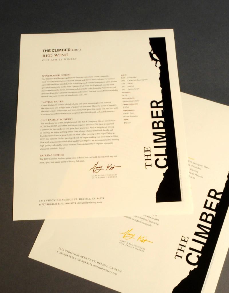The Climber Sales Sheet Design