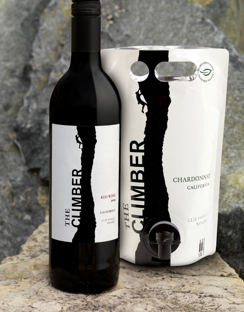 The Climber Wine Packaging Design & Logo Bottle & Astapouch
