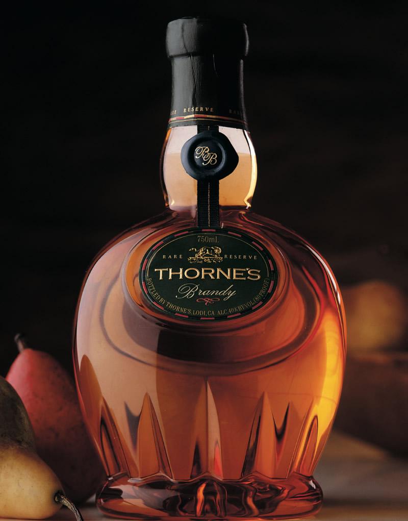 Thorne's Brandy Spirits Packaging Design & Logo
